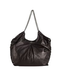Elie Tahari - Black Leather Bianca Chain Bag - Lyst