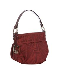 Fendi | Red Zucca Canvas Mini Shoulder Bag | Lyst