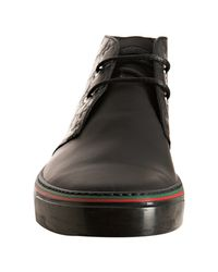 Gucci - Black Calfskin Hilary Hi-top Sneakers for Men - Lyst