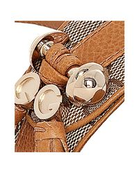 Gucci - Brown Tan Leather Gg Canvas Marrakesh Thong Flat Sandals - Lyst