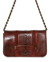 Marc Jacobs | Purple Python Suede Luisa Shoulder Bag | Lyst