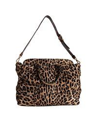 Prada | Multicolor Sand Leopard Printed Calf Hair Cavallino Frame Bag | Lyst