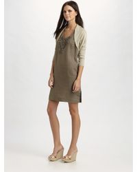 Weekend by Maxmara | Natural Geyser Silk/linen Shrug | Lyst