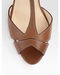 Christian Louboutin - Brown Cotonetta T-strap Sandals - Lyst