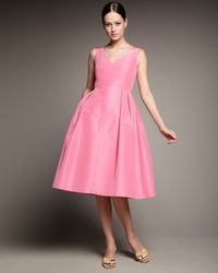 Redux Charles Chang-lima | Pink V-neck Full-skirt Dress | Lyst