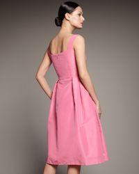 Redux Charles Chang-lima   Pink V-neck Full-skirt Dress   Lyst