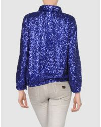 Halston | Blue Jacket | Lyst