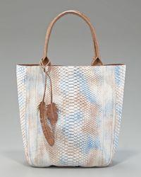 Nancy Gonzalez   Blue Python Leaf Tote   Lyst