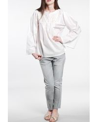 Rika | Isabel Blouse in Vintage White | Lyst