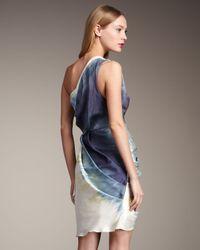 Alice + Olivia - Blue Bree One-shoulder Wrap Dress - Lyst