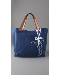 Anya Hindmarch | Blue Gym Kit Large Canvas Tote | Lyst
