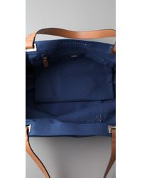 Anya Hindmarch   Blue Gym Kit Large Canvas Tote   Lyst
