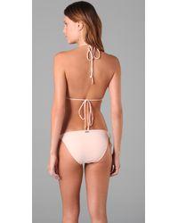 Camilla & Marc - Natural Corfu Triangle Bikini - Lyst