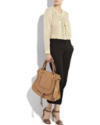 Chloé - Brown Marcie Large Leather Bag - Lyst