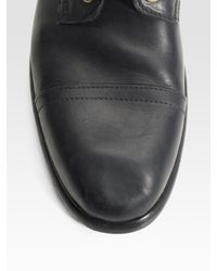 Dolce & Gabbana | Black Leather Ankle Boots for Men | Lyst