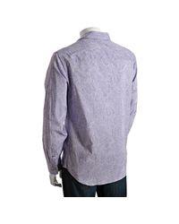 Elie Tahari - Purple Lavender Paisley Striped Boyar.jeremy Shirt for Men - Lyst