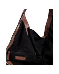 Givenchy - Brown Lambskin Leather Tinhan Large Hobo - Lyst