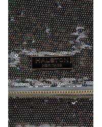 Halston - Black Sequin Jenny Fold Clutch - Lyst