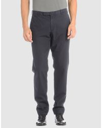 Incotex - Blue Slim-fit Herringbone Wool Trousers for Men - Lyst