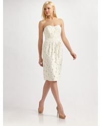 Lafayette 148 New York | White Catalina Floral Lace Dress | Lyst