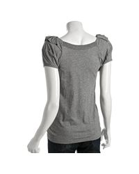 Marc By Marc Jacobs | Gray Lead Cotton Ruffle Neck T-shirt | Lyst
