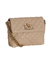 Marc Jacobs | Natural Beige Quilted Leather Day To Night Large Single Shoulder Bag | Lyst