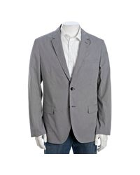Theory | Gray Black Walten Np Micro Houndstooth 2-button Blazer for Men | Lyst