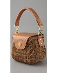 Tory Burch - Natural Small Wicker Basket Bag - Lyst