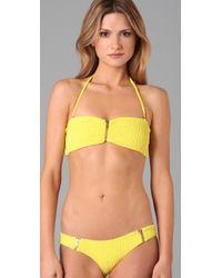 Tori Praver Swimwear | Yellow Ami Bikini Top | Lyst