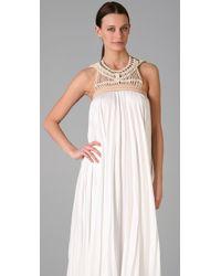 A.L.C. | White Macrame Long Dress | Lyst