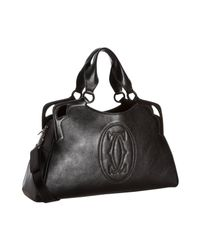 Cartier - Black Buffalo Marcello Worldwide Bag - Lyst