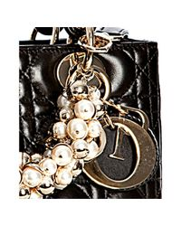 Dior - Black Cannage Lambskin Lady Beaded Medium Tote Bag - Lyst