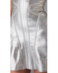 Hervé Léger - Metallic Strapless Runway Dress - Lyst