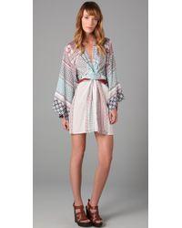 Issa - Blue Short Kimono Dress - Lyst