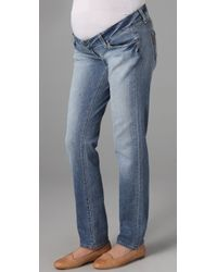 PAIGE - Blue Westbourne Jimmy Jimmy Skinny Maternity Jeans - Lyst