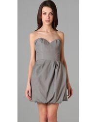 Porter Grey | Gray Strapless Dress | Lyst