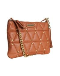 Rebecca Minkoff | Brown Almond Leather Quilted Rocker Crossbody Bag | Lyst
