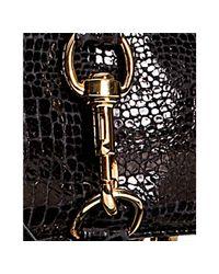 Rebecca Minkoff - Black Croc Embossed Leather Mac Convertible Clutch - Lyst