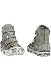 Ash - Gray Virgin - Buckle Sneaker in Cargo Leather - Lyst