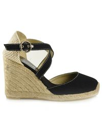 Bettye Muller | Katy - Black Closed Canvas Wedge Espadrille | Lyst