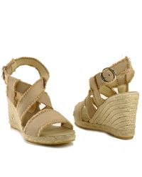 Bettye Muller | Green Sage - Sand Frayed Canvas Espadrille | Lyst