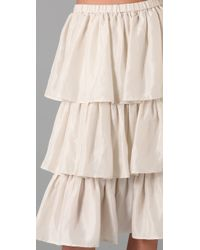 Dallin Chase - Natural Princeton Tiered Skirt - Lyst