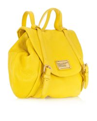 Marc By Marc Jacobs - Yellow Leather Backpack - Lyst