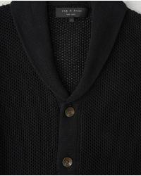 Rag & Bone | Gray Avery Shawl Cardigan for Men | Lyst