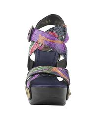 Stuart Weitzman | Multicolor Face Up - Multi Snake Platform Sandal | Lyst