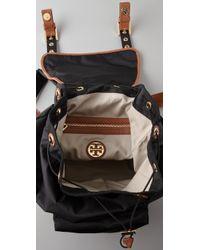 Tory Burch | Black Greyden Nylon Backpack | Lyst