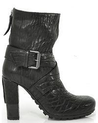 Vic Matié - Black Leather Bootie - Lyst