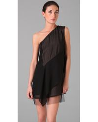 BCBGMAXAZRIA | Black Marike One Shoulder Dress | Lyst