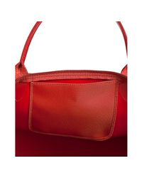 Longchamp - Red Rouge Coated Nylon Planetes Small Tote - Lyst