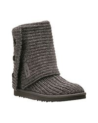 UGG | Gray Classic Cardy - Grey Crochet Boot | Lyst